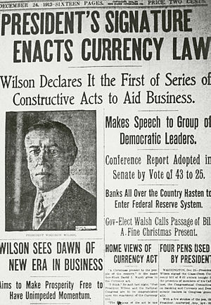 """""""I am a most unhappy man. I have unwittingly ruined my country. A great industrial nation is now controlled by its system of credit. We are no longer a government by free opinion, no longer a government by conviction and the vote of the majority, but a government by the opinion and duress of a small group of dominant men."""" -- Woodrow Wilson 1919"""