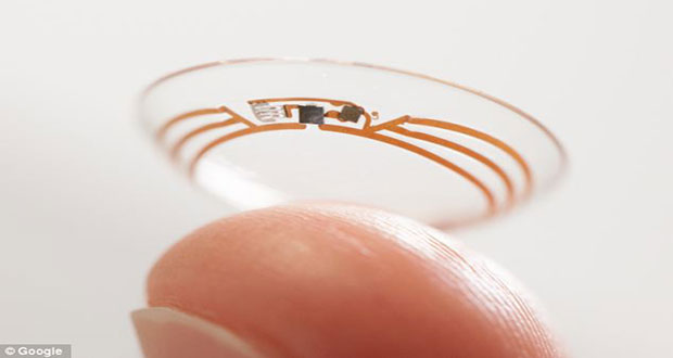 Google is testing a prototype for a smart contact lens that we built to measure glucose in tears continuously using a wireless chip and miniaturized glucose sensor.