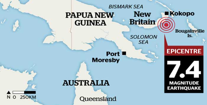 Tsunami Threat as 7.4 Magnitude Earthquake Hits Papua New Guinea