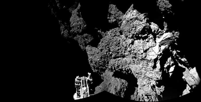 Home to extraterrestrials Philae probe could be sitting on comet filled with alien life