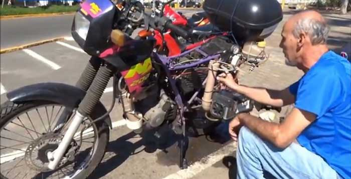 This Guy Converted His Motorcycle To Run On Water