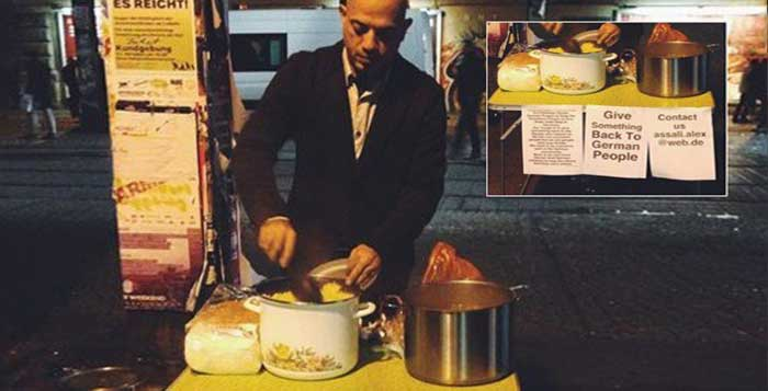 Syrian Refugee Cooking For German Homeless To Give Something Back