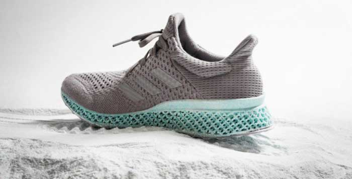 Check Out Adidas 3D Printed Sneakers Made From Plastic Trash From The Ocean