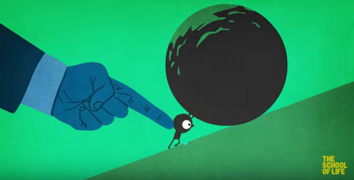 Go To School Get A Job  Fit Into The System Animated Video Illustrates The Madness Of Our World