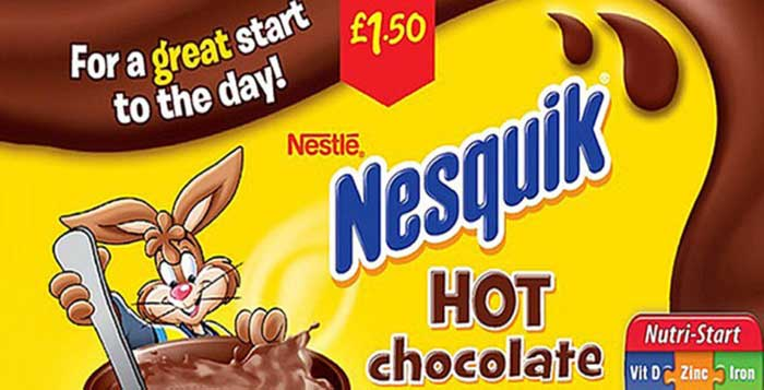 Nestle Can No Longer Advertise Nesquik As A Great Start To The Day In The UK