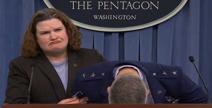 Air Force general faints at Pentagon briefing on plane budget