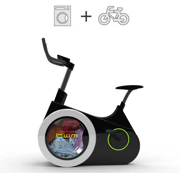 Exercise AND Wash Laundry With This Amazing Eco-Friendly Bike b