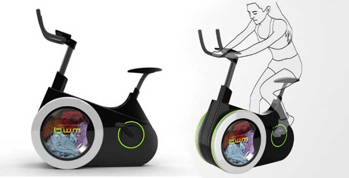 Exercise AND Wash Laundry With This Amazing Eco-Friendly Bike