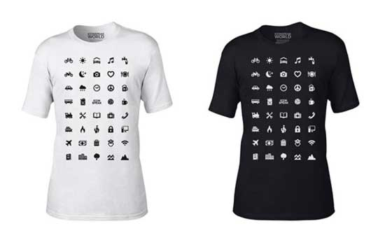 Traveling T-Shirt With 40 Icons Lets You Communicate In Any Country Even If You Dont Speak Its Language 1
