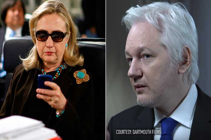 Assange Clinton resisted FBI and now theyre out for payback