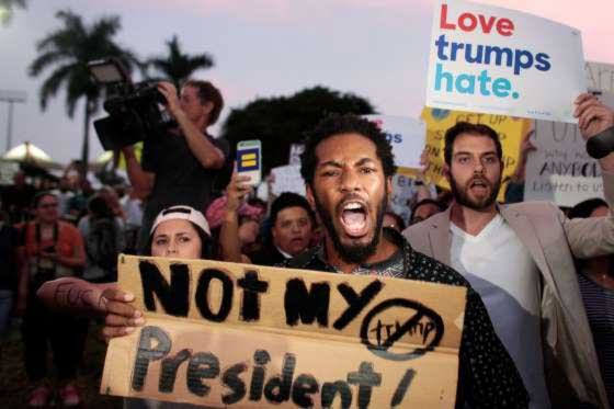 Trump protesters flood streets anew 1