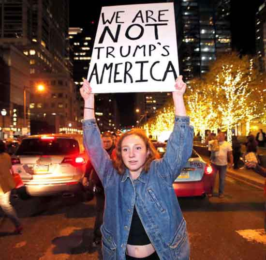 Trump protesters flood streets anew 2