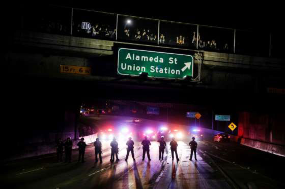 Trump protesters flood streets anew 4