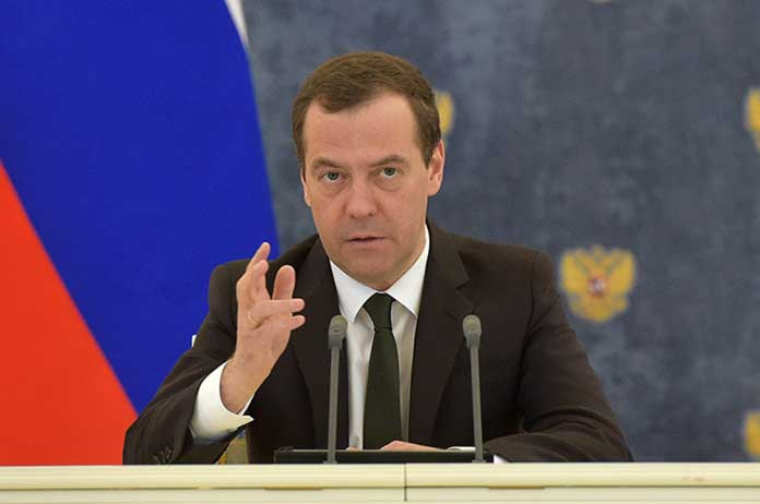 Americas Syria strike on verge of military clash with Russia PM Medvedev