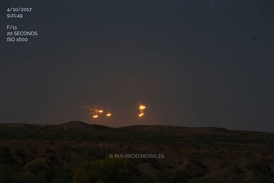 Photographer Records A Crystal Clear Video of Multiple UFOs While Driving Through The Desert in Arizona as