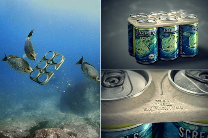 World's First Edible Six-Pack Rings Feed Marine Animals Instead of Strangling Them