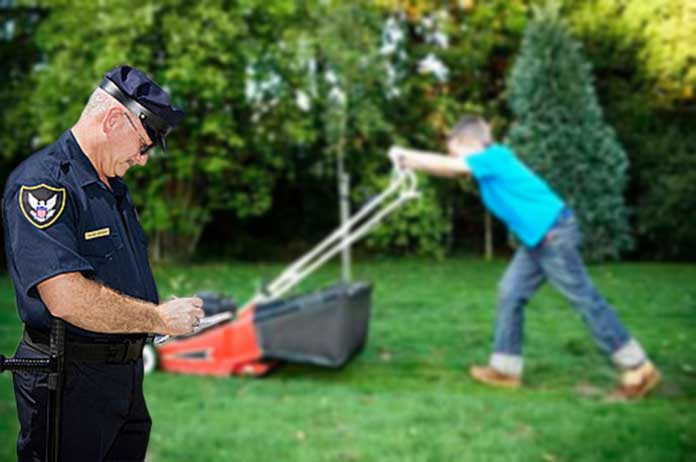 Children Now Face Fines Arrest If They Dont Get a Permit to Mow Grass for Money