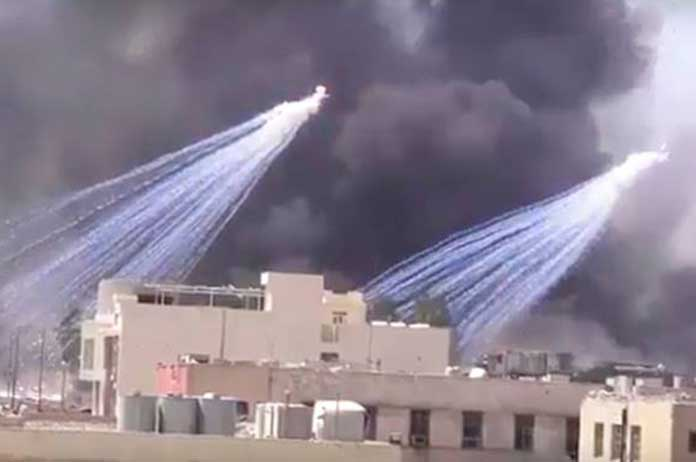 US-Led Forces Now Using White Phosphorus in Populated Areas of Syria and Iraq