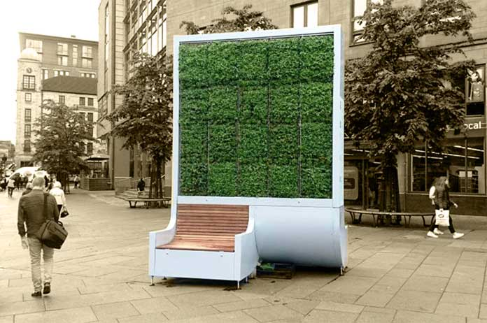 Entrepreneurs Invent City Bench that Absorbs More Air Pollution Than a Small Forest