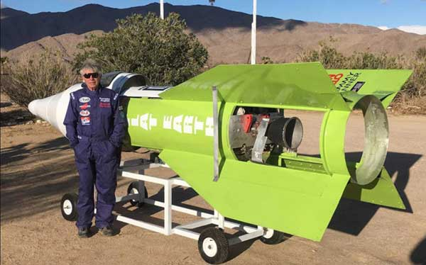 Flat-Earther blasts off into California sky in home-made steam rocket 1