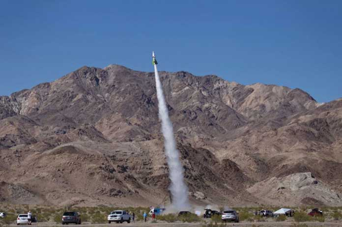 Flat-Earther blasts off into California sky in home-made steam rocket